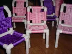 So cute! Kid chairs from PVC