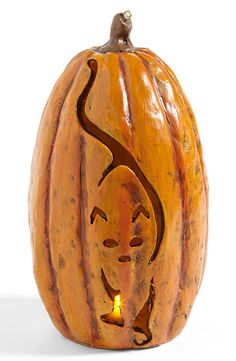 Cat Jack-O-Lantern Halloween Decoration - 20 Interesting Halloween Decorations To Buy For Your Home