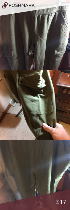 Green capris by Venezia This is a pair of green sweats capris in a size 22/24 by Venezia the are many of cotton and spandex Venezia Pants Capris