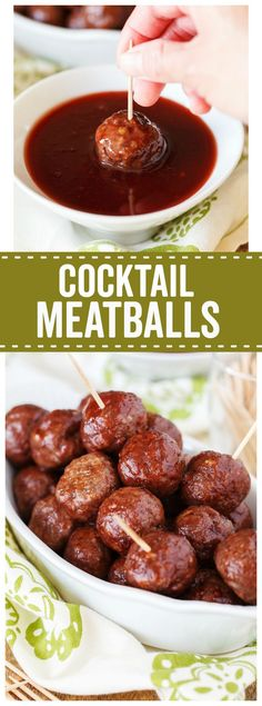 These Slow Cooker Cocktail Meatballs are the perfect appetizer for game day, New Years Eve, and any other time you need some yummy food to feed a crowd!