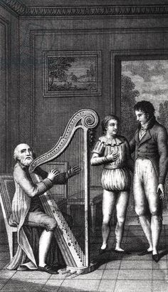 Illustration from 'Wilhelm Meister's Apprenticeship' by Johann Wolfgang Goethe (1749-1832) 1802 (engraving) (b/w photo)