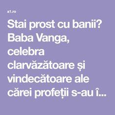 Stai prost cu banii? Baba Vanga, celebra clarvăzătoare și vindecătoare ale cărei profeții s-au împlinit, are un ritual aparte pentru atragerea norocului. Baba Vanga are un renume internațional, astfel că, zicerile ei au devenit liter Baba Vanga