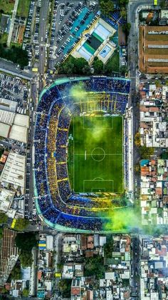 Old School Panini ( Soccer Stadium, Football Stadiums, Football Field, Argentina Football, Aerial Photography, Real Madrid, Old School, City Photo, Around The Worlds