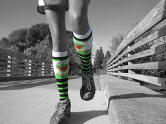 Elaines love of cross country while dressing fun in kermie socks #picmonkey #pinyourlove