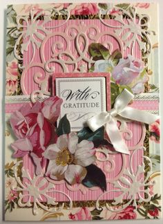 Love Anna Griffin's lace embossing folders and dies are fun to use.