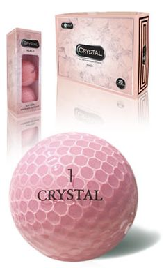FL Golf Ladies Crystal Golf Balls (1 Dozen) - Peach | via @lorisgolfshoppe