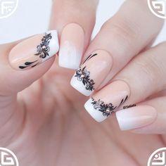 french nails tips Fun Elegant Nail Art, Elegant Nail Designs, French Nail Designs, Colorful Nail Designs, Cool Nail Designs, French Nails, French Manicures, Nude Nails, Gel Nails