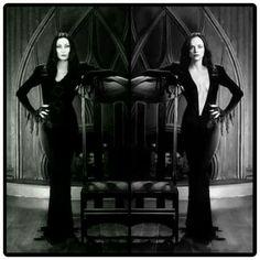 ~† Christina Ricci † As Wednesday Addams † All Grown Up Today Like Her Mom.. As Morticia Addams ~† Anjelica Huston †