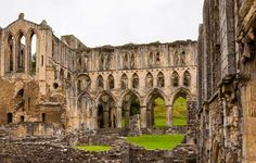 The extensive ruins of Rievaulx Abbey