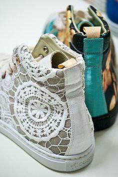 Кружевные кеды (трафик) / Обувь / Модный сайт о стильной переделке одежды и интерьера