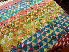 Pyramid Quilt from MollyFlanders blog