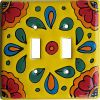 Canary Talavera Ceramic Double Switch Plate for my Mexican themed kitchen?