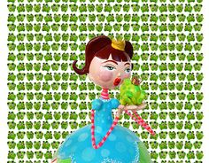 "Check out new work on my @Behance portfolio: ""the princess and the frog"" http://be.net/gallery/47903795/the-princess-and-the-frog"