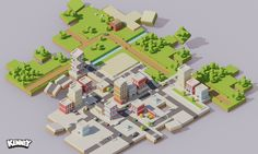 Isometric City Construction - http://www.kenney.nl/assets