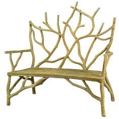 faux bois bench