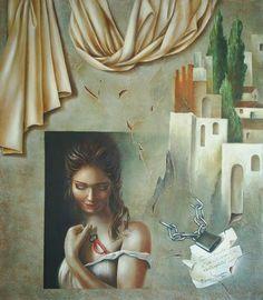 Fatima Marques (©2011 fatimamarques.com) Técnica: acrílica e óleo sobre tela; Ano: 2011 Estilo: Figurativo Contemporâneo; Corrente Artística baseada no Renascimento com toques de surrealismo; Pintura que retrata a Alma Feminina