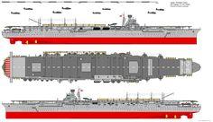 Shokaku-class Aircraft Carrier (1948) by ijnfleetadmiral.deviantart.com on @deviantART