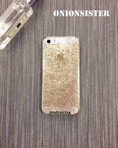 Resin Sparkle Cute Resin Glitter iPhone Case | Champagne Gold | Clear Phone Case | Bling Bling | iPhone case 5 / 5s | iPhone 6 6s / Plus by OnionSister on Etsy