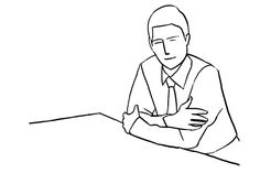 14. A man supporting himself on a desk with arms crossed. Again you could place work related items on the desk to point to the subject's profession.