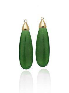 Gotas de Jade -escolha a sua base e monte seu brinco