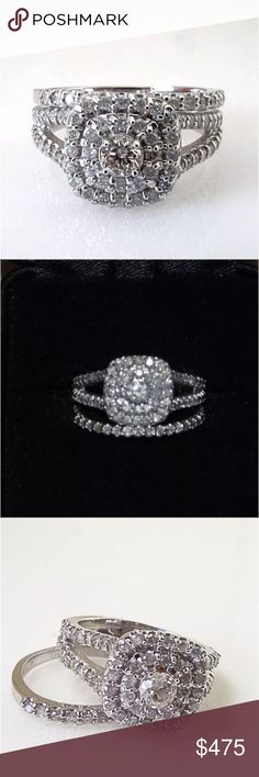 Gorgeous 1 carat 10k white gold diamond ring set Gorgeous 1 carat 10k white gold diamond ring set Jewelry Rings