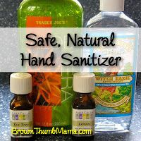 This gentle hand sanitizer keeps the germs away and doesn't dry my hands. Plus it's safe for kids and doesn't irritate their skin! BrownThumbMama.com