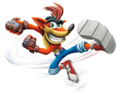 Crash Bandicoot Skylanders with transparent background.  http://www.guide4games.pro/wp-content/uploads/2016/09/Crash-Bandicoot-Skylanders.png ,,'
