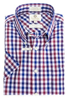 Men's fashions at The Abbey Button-Down Colla... Check it out here http://theabbeycollection.ca/products/button-down-collar-short-sleeve-plaid-sport-shirt-by-viyella-1?utm_campaign=social_autopilot&utm_source=pin&utm_medium=pin
