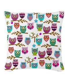 Whimsical Owl Throw Pillow