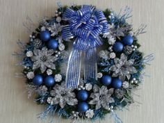 Christmas Wreath   Reserved for Sarah by ChristmasCraftsShop