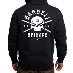 The Black Rebirth Hoodie introduces a new Barbell Brigade aesthetic while paying tribute to the designs of the past. Now featuring our reflective BB labels. Susa, Cheap Hoodies, Black Hoodie, Graphic Sweatshirt, Fitness Clothing, Pullover, Barbell, Sweatshirts, Bb