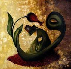 Vav and dervish Rumi Love, Sufi Poetry, Turkish Art, Islamic Art Calligraphy, Human Art, Beautiful Mind, Heart And Mind, Painting Lessons, Mandala