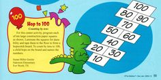 100th Day of School Hop to 100 Math Activity (counting by tens)