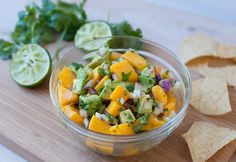 Two of my most favourite foods are mango and avocado. I just love this time of year as both of them are readily available in my local fruit and vegetable shop. This recipe is a different slant on the usual guacamole, enjoy. Mango Avocado Salsa, Ripe Avocado, Salad Recipes, Healthy Recipes, Dip Recipes, Healthy Eats, Yummy Recipes, Cooking Recipes, Vegetable Shop