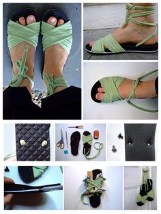 joybobo: Make Your Own Sandals fundraiser idea Decorating Flip Flops, Flipflops, Crochet Sandals, Make Your Own, How To Make, Shoe Art, Diy Clothing, Shoe Boots, Shoes