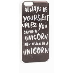 Jfr Iphone 6 Unicorn ($29) ❤ liked on Polyvore featuring accessories, tech accessories, phone cases, phone, iphone, black, bags and womens-fashion