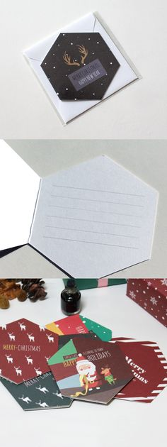 We recommend this card to those who wishes for an extra special christmas! This is a unique hexagonal shape card with a gorgeous illustration.