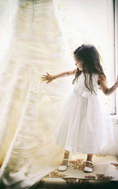 Flowergirl moment #weddingdress #flowergirl