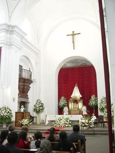 Interior de la Iglesia de la Merced, Antigua, Sacatepequez, Guatemala
