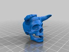 Download Horned Skull free 3D model for printing