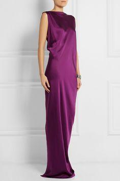 Stella McCartney|Ruth draped satin-twill gown|NET-A-PORTER.COM