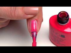 CND Shellac Application - YouTube