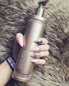 Są i o to one  #newhybrid #gelnails #pink #gray #pinkpanther #cusp #beautiful #viviangray #luxurybodylotion #nailstyling #manicure #instanails #polishnails #happyday #love #goodtimes #loveit #instalike #instagram #instalove #instacam #instaday #instadaily #likeforlike #followme #xoxo #polish by sandi.hassa