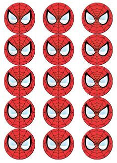 Spiderman Face, Spiderman Spider, Superman Birthday Party, Superhero Party, Grandparents Day Crafts, Paper Cupcake, Wafer Paper, Man Party, Holidays And Events
