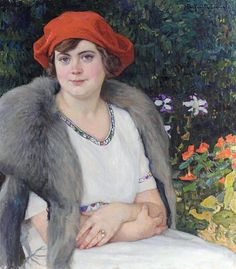 Nikolay Bogdanov-Belsky - Portrait of Artist's Wife