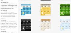 Designs of calendar for website