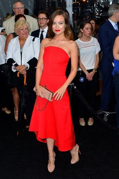 Olivia Wilde  in  Osman dress and Christian Louboutin heels