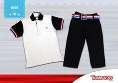 Colección fin de año 2015 - Polo y pantalón niño. Más información en www.travesuras.com.co