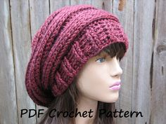 CROCHET PATTERN  Chunky Hat Crochet Pattern PDFEasy by EvasStudio, $5.00