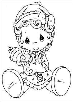 Precious Moments Animals Coloring Pages | Precious moments baby girl